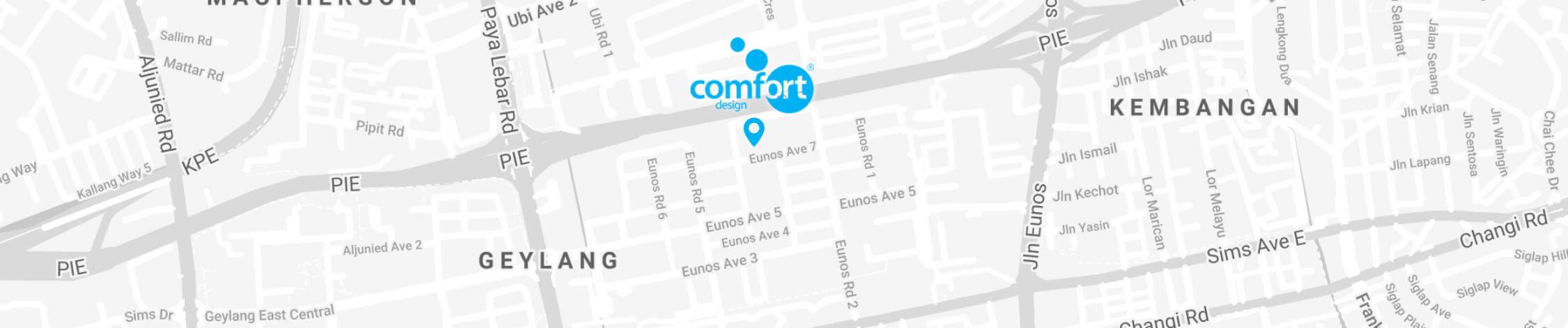 Comfort Furniture on Maps
