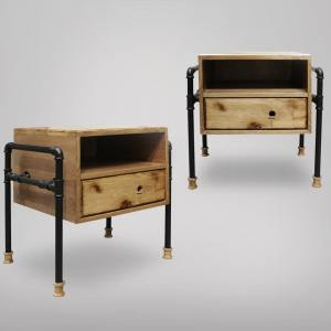 Pipe Bedside Table