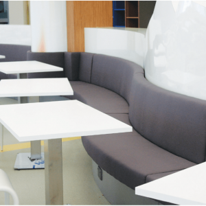 Wavy Booth Seat (Storage Optional)