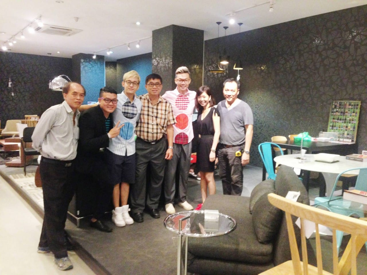 "Our group photo after filming at our showroom with Mark Lee & Jeremy Chan, hosts of ""Please Be My Guest 客人来咯"", the latest home Reno show on Channel 8 which will be telecast this coming 10 December 2014."