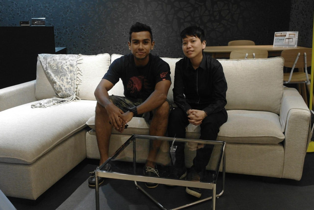 Multi-talented Taufik Batisah, Winner of Singapore Idol 2004 Singing competition, dropped by our showroom to have a look at some of our chairs and tables for their design firm Batisah Interior Design.